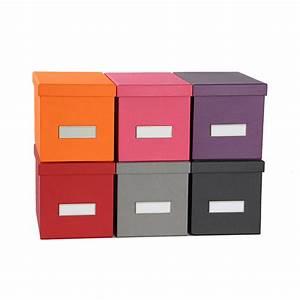 Boite De Rangement Carton : bo te de rangement cd en carton rouge ~ Teatrodelosmanantiales.com Idées de Décoration