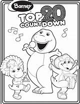 Barney Coloring Countdown Bop Bj Pages Printable Colouring Games Wiki Hubpages Wikia Ball Fandom sketch template