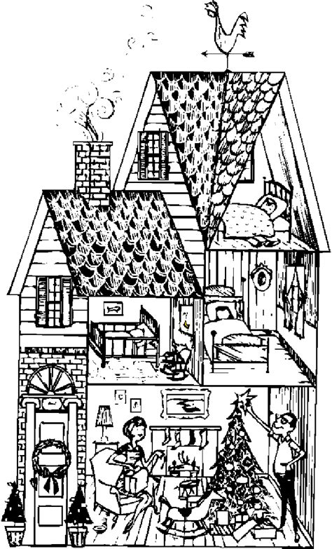 houses  color  print  adults girls  kids house coloring pages house picture