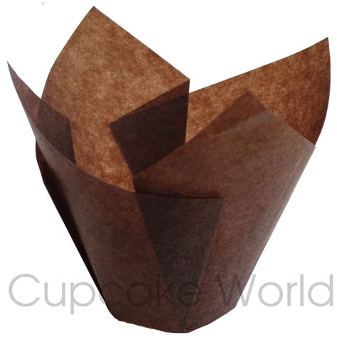 pc cafe style brown paper cupcake muffin wraps mini