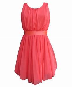 vestido corto fiesta con falda de tul color rosa coral de centella