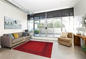 Tapis Salon Moderne : tapis vintage de salon rouge dico ~ Teatrodelosmanantiales.com Idées de Décoration