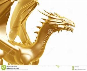 Stock Photos: Golden fire dragon. Image: 44587503