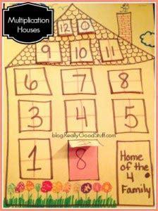 multiplication house math craft  kids
