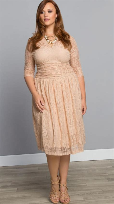 size lace cocktail dress pluslookeu collection