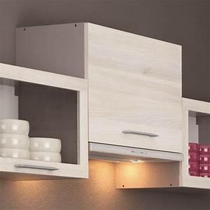 chef meuble de cuisine sur hotte 60 cm 1 abattant achat With hotte integree dans meuble haut