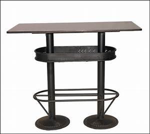 Bar Mange Debout : table haute industrielle mange debout loft pas chere et solide pour les bars bistrot idees ~ Teatrodelosmanantiales.com Idées de Décoration
