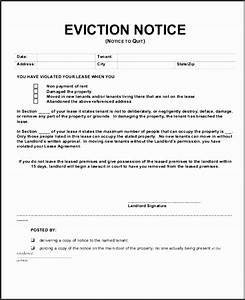 6 eviction notice templates sampletemplatess With eviction notice template alberta free