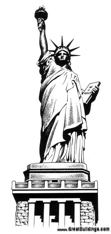 Statue Of Liberty Drawing Template by New York Statue Of Liberty Drawing Sketch Coloring Page