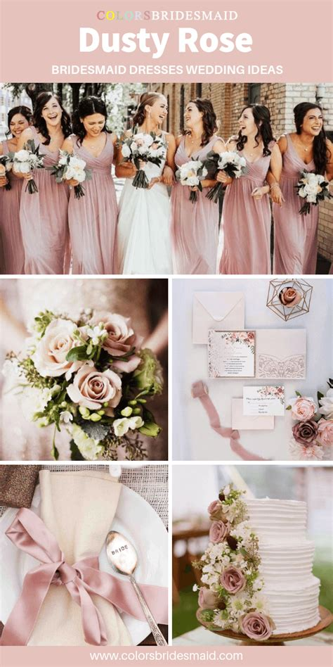 All 20+ Dusty Rose Wedding Color Palettes ColorsBridesmaid