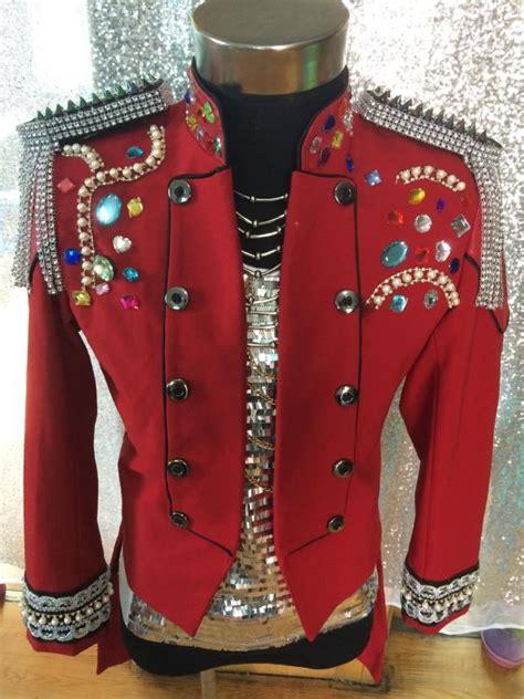 fashion royal style mens red crystal rhinestone tassel