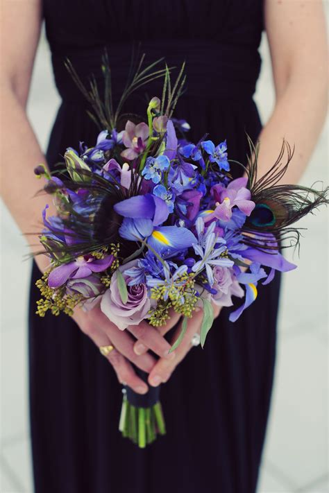 bright purple orchid bridesmaid bouquet