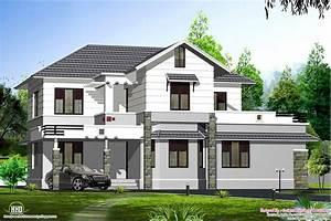 Wonderful Sloping Roof House Design