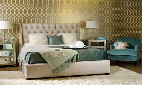 Wallpaper Decorating Ideas Bedroom Gold And Teal Bedroom