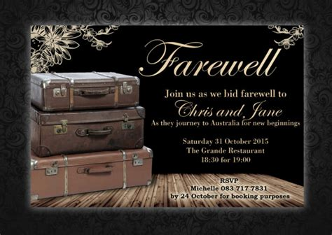 amazing farewell invitation templates