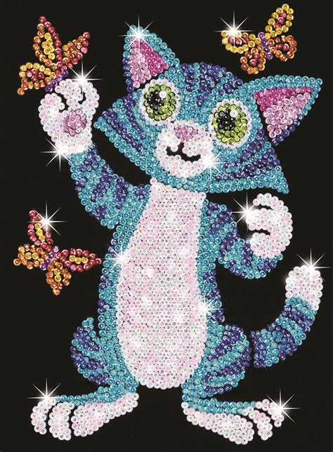 Sequin Art Junior Kitten Craft Kit  Hobbies Cats