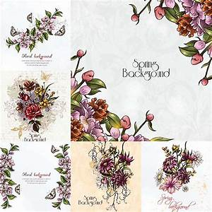 floral spring background frames vectors free download With wedding invitations with flowers vintage frame