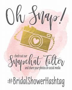 Oh Snap Wedding Sign Snapchat Filter DIY Printable