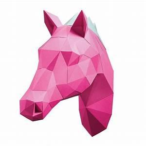 Trophée Animaux Origami : papershape troph e origami ~ Teatrodelosmanantiales.com Idées de Décoration