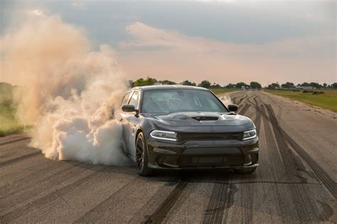 hpe charger hellcat burnout hennessey performance