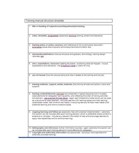 manual template manual 40 free templates exles in ms word