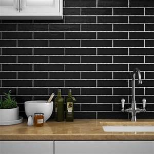 Mileto Black Gloss Ceramic Wall Tile