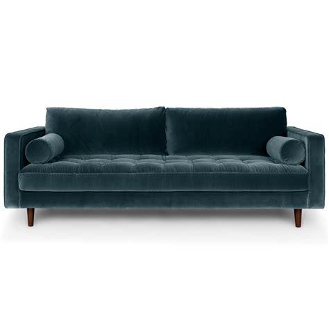 blue mid century modern sofa blue velvet mid century modern sofa upholstered sven mid
