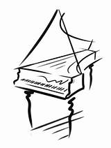 Piano Drawing Harpsichord Outline Festival Mozart Getdrawings Drawings Transparent Clipart Paintingvalley sketch template
