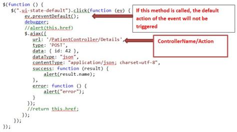 Jquery Resume Event After Preventdefault by Call Controller Method From Jquery Using Ajax Dotnetpiper