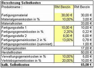Ist Zuschlagssatz Berechnen : selbstkostenkalkulation zuschlagskalkulation ermittlung listenpreis bzw der selbskosten ~ Themetempest.com Abrechnung