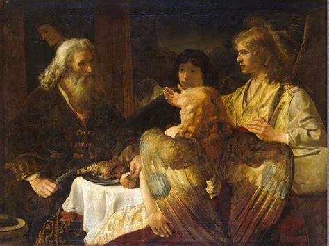 abraham genesis angels rembrandt god bible three victors holy jan