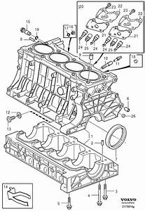 Volvo S40 Cover  Cylinder Block  Engine Block  Turbo  5cyl