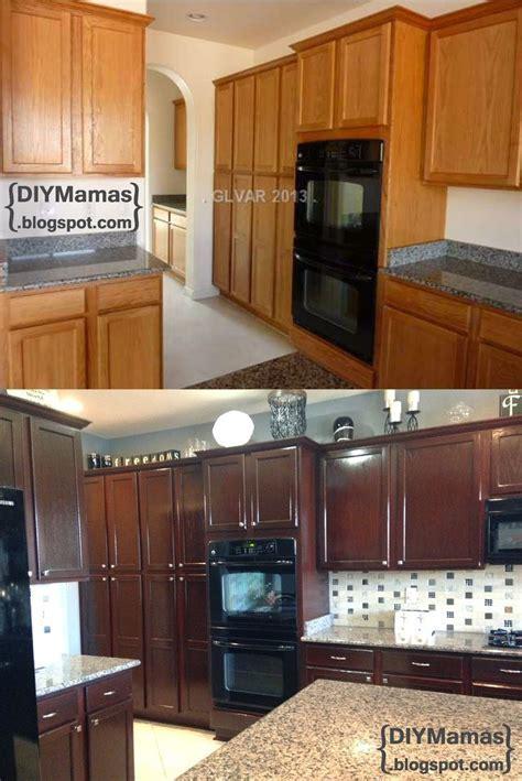 diy restaining kitchen cabinets   Roselawnlutheran