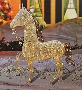 amazoncom  elegant glittered prancing horse lighted
