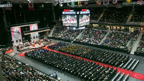 heavy traffic expected  commencement  baxter arena