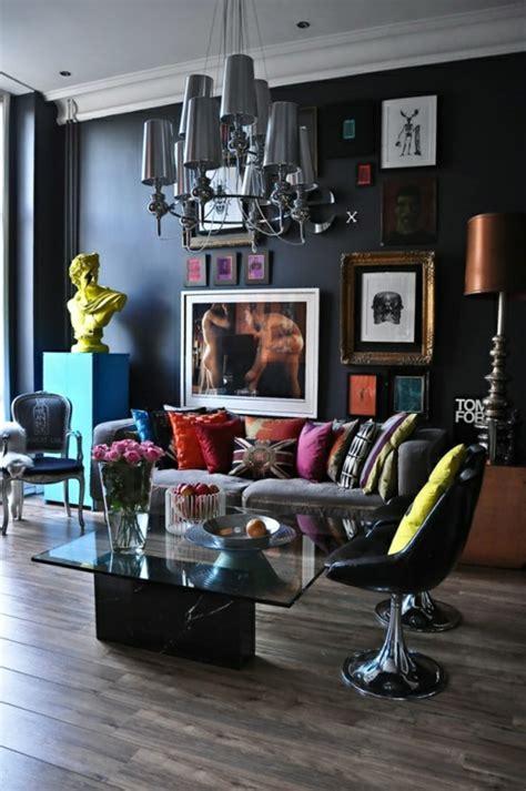 wohnzimmer dekorationsideen wohnzimmer farben 22 dekorationsideen mit schwarz