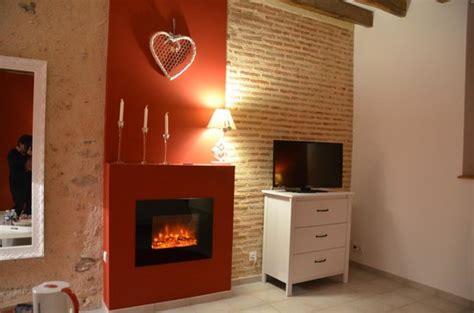 chambre d hote maurice tv et cheminée électrique d 39 ambiance photo de chambre d