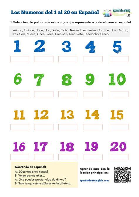 numbers  spanish      worksheet