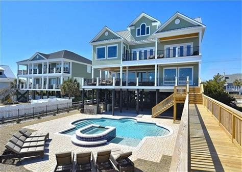 Myrtle Rental Houses by Luxurious Oceanfront Home With Swimming Homeaway