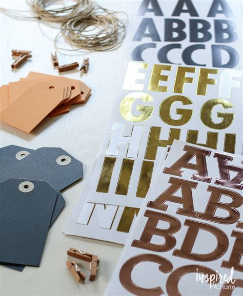 large letter stickers diy fall tag banners eighteen25