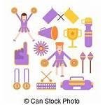 Vector Horn Cheerleader Cheerleaders Icons Flat Cheerleading