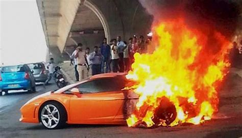 lamborghinis catch fire  explain