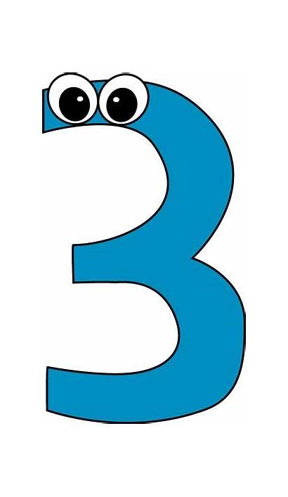 Number Three Clip Cartoon Clipart Birthday Five