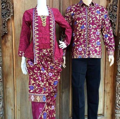 desain baju batik couple model terbaru