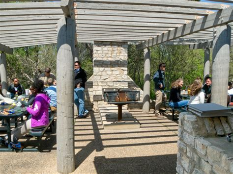 McKinney Falls State Park Group Recreation Hall with