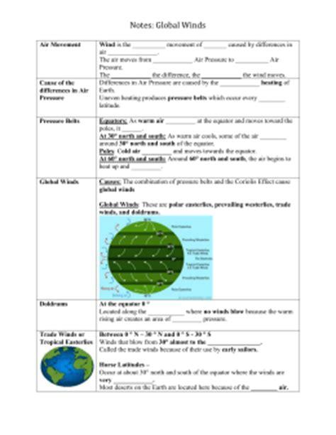 global winds and pressure belts worksheet earth science