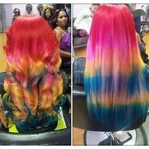 Wow,rainbow hairstyle,do u like it?? Omg girlz rainbow ...