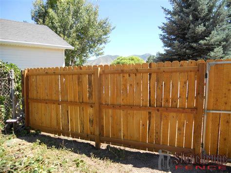 best fences wooden fencing cedar the best fences decks in utah