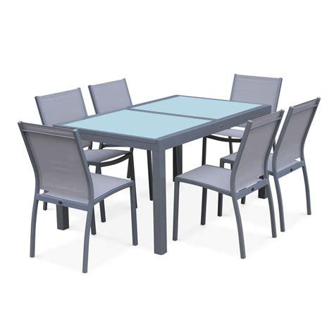 table carrée a rallonge table de jardin 224 rallonge orlando gris clair extensible