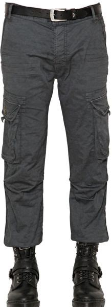 armani jeans cm stretch canvas cargo trousers  gray
